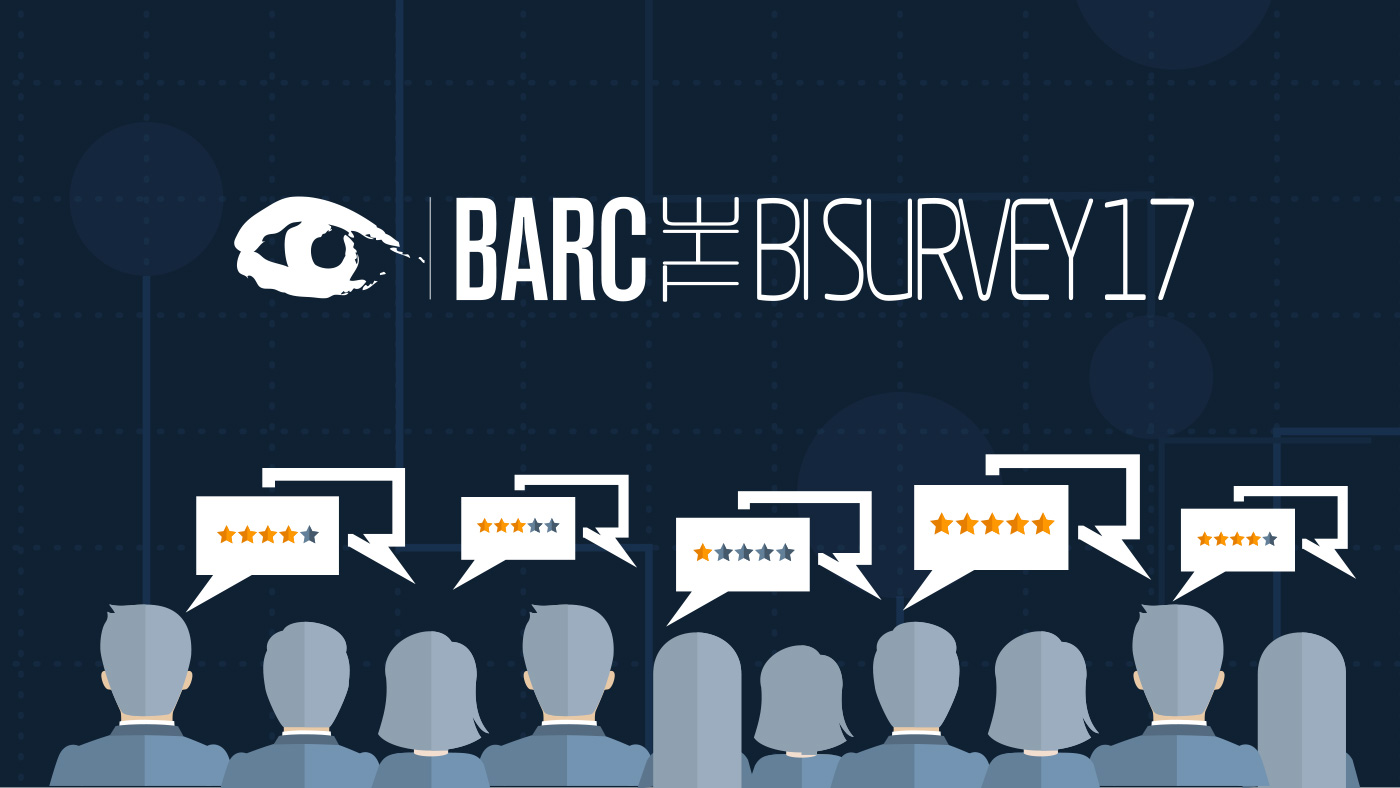 BARC BI Survey 17 Climber Qlik Top ranked