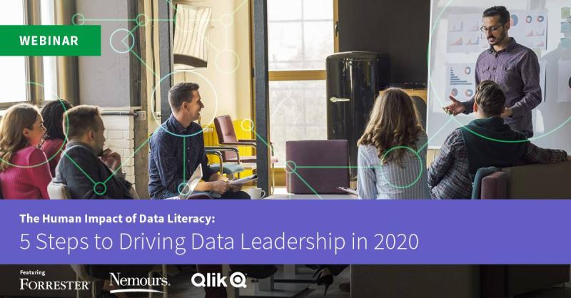 Sign up for Qliks data literacy webinar - 5 steps to driving data literacy