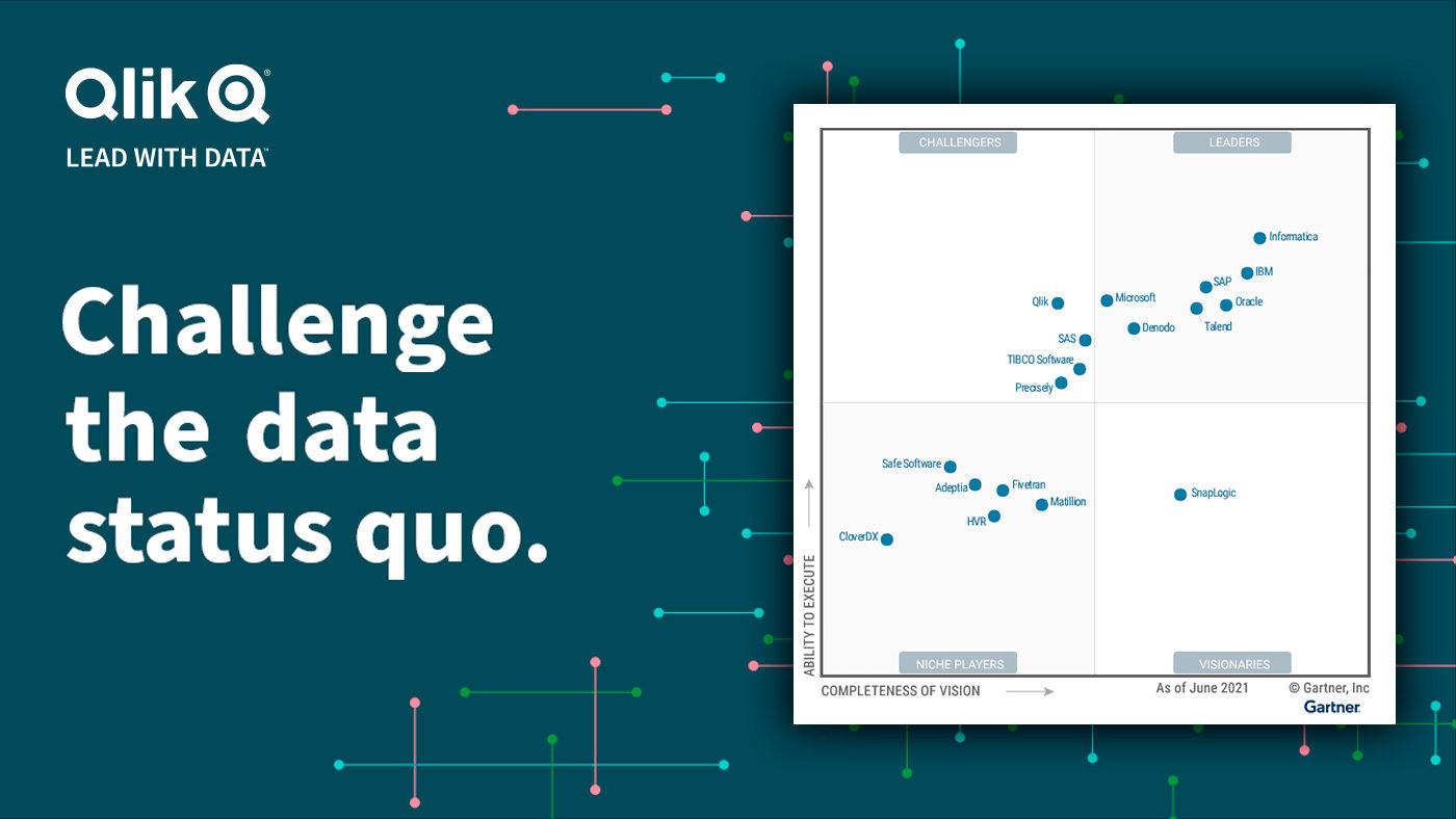 Qlik in the 2021 Gartner Magic Quadrant for Data Integration Tools